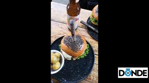 Hamburguesa regia con pan de corazón, de Cencerro #MesDelAmor